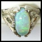 14KW Custom Jelly Opal Ring