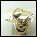 Custom made Cadilac Diamond & Ruby Ring