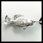 Sterling Crappie Pendant