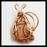 Custom Wire Natural-Copper Banded Carnelian