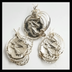 Custom Wire Silver-Plated-Base-Metal-Medalions Love-Hope-Courage