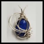 Custom Wire Wrap Silver Plated Lapis Lazuli