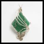 Custom Silver plated Wire Green Aventurine