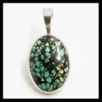 Silver-plated turquoise mosaic Pendant