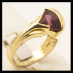 18KY Fancy-Cut Rhodolite Garnet Ring
