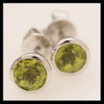 14KW Peridot Bezel_Set Earrings