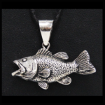 Sterling Large Mouth Bass Pendant