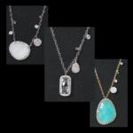 Gold Meria-T Slab-Cut Necklaces