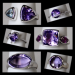 Assoted Sterling Amethyst Rings