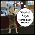 """Sophie Says """"Come Back Soon"""""""